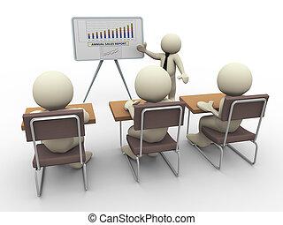 3d presentación de negocios