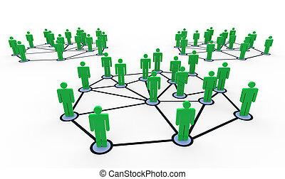 3d redes de personas