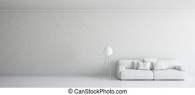 3D representa una escena minimalista