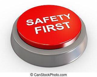 3d, seguridad, botón, primero