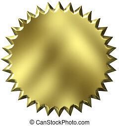 3D sello de oro