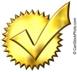 3D sello dorado