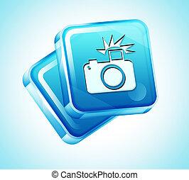 3d, transparente, icono