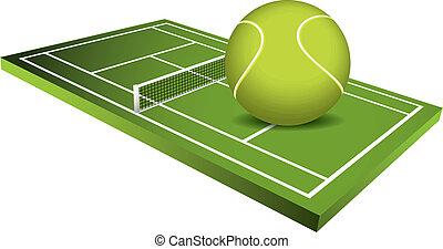 3d vector de campo de Tenis