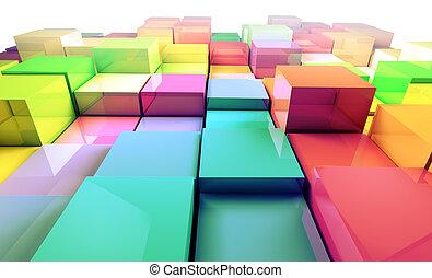 3do fondo de cubos de colores