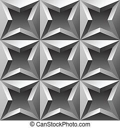 3do patrón metálico sin marcas