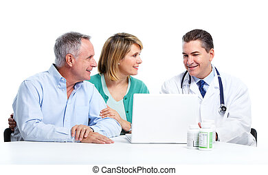 3º edad, paciente, pareja., doctor
