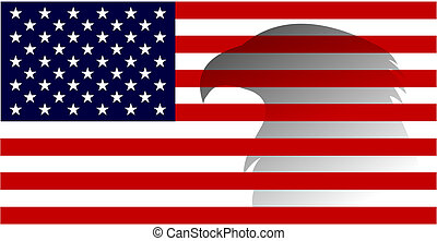 4 de julio, día de independencia de los Estados Unidos de América. bandera americana con imagen de águila. Vector