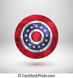 4 julio, día de independencia, insignia