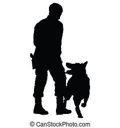 4, perro, policía