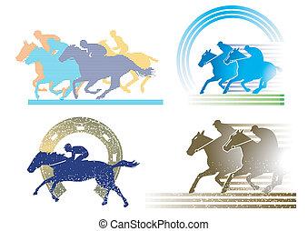 4 personajes de carreras de caballos
