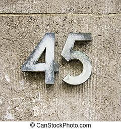 45, número