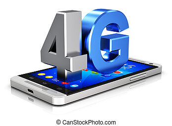 4g, lte, tecnología, radio, concepto