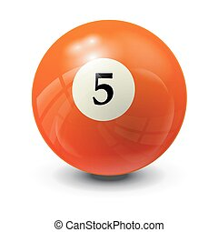 5, bola de billar
