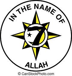 5% de la nación de la bandera islámica