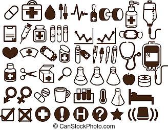50 iconos médicos y sanitarios