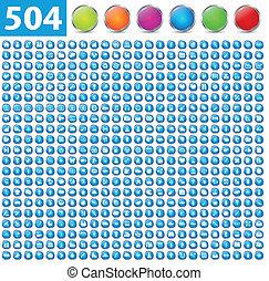 504, brillante, iconos