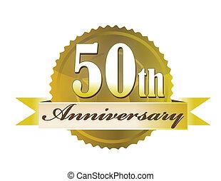 50th, sello, aniversario