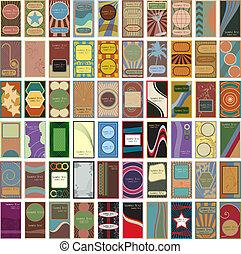 60 tarjetas de vectores antiguos