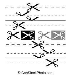 8, design., eps, plantilla, tijeras