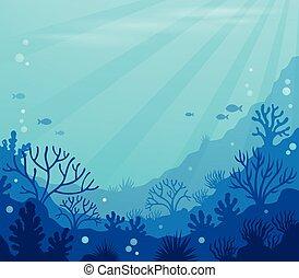8, plano de fondo, submarino, océano, tema