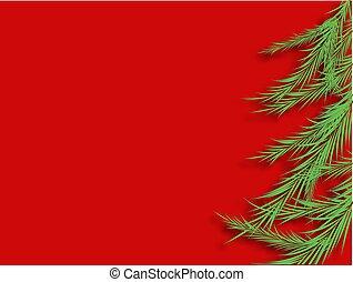 año, 2020, ilustración, navidad, vector, bilis, árbol., celebración, design., hermoso
