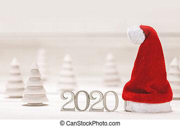 año, conceptual, nuevo, 2020, plano de fondo