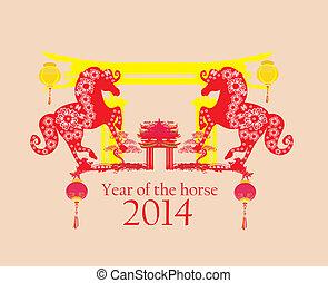 Año de diseño gráfico de caballos