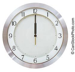 aún, doce, reloj, medianoche, -, o