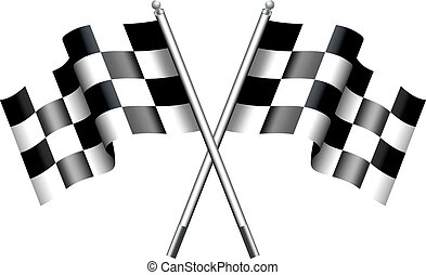 A cuadros, banderas a cuadros, motor ra