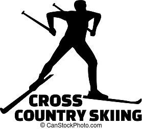 A esquiar en el campo
