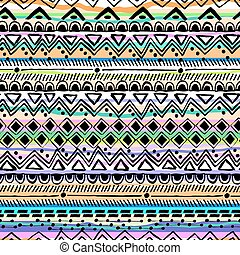 A rayas dibujadas a mano tribal