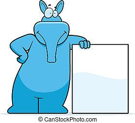 Aardvark inclinado