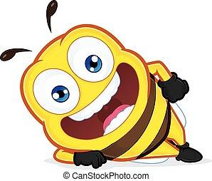 abajo, acostado, abeja