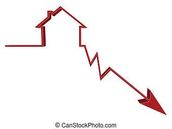 abajo, tasas, hipoteca