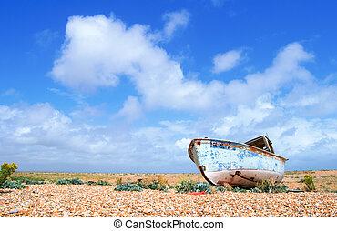 abandonado, barco
