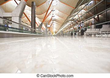 abandonado, terminal, aeropuerto