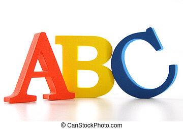 abc, cartas, blanco