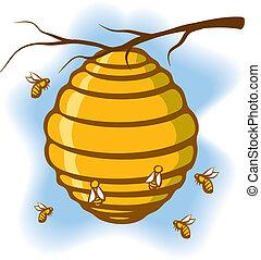 abeja de la colmena