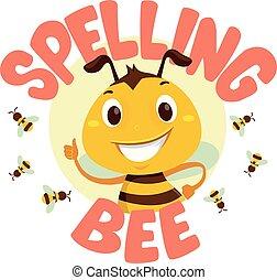 abeja, palabra, ortografía