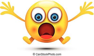 abierto, boca, sorprendido, emoji
