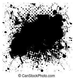 abigarrado, grunge, splat, tinta
