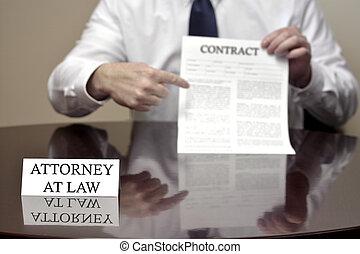 Abogado con contrato
