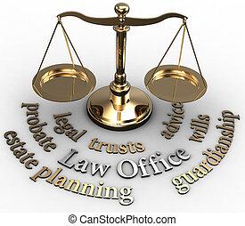 abogado, escala, propiedad, voluntades, palabras, validación de un testamento