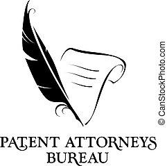 abogado, oficina, logo., ley