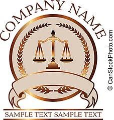 abogado, oro, ley, -, justicia, escalas, o, sello