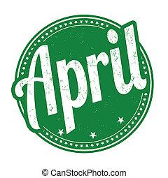 abril, estampilla
