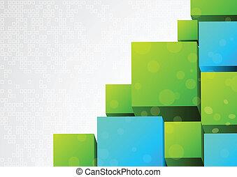 Abstracción 3d de fondo con bloque