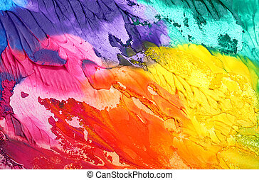 Abstracción acrílica de fondo pintado