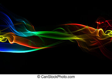 Abstracción agitando antecedentes, humo fluyendo.